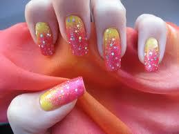žluto Růžové Nehtybeautiful Lucys Secret World
