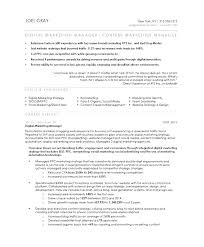 Marketing Resume Template Best Brand Management Position Resume Objective Sample Marketing Resume