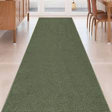 details about custom size olive green stair hallway runner rug rubber back non skid 22 26 31