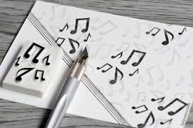 music note stamp music stamp music note stamp musical symbol rubber stamp melody
