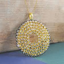 fine herkimer diamond large statement gold necklace