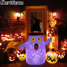 Pumpkin Yard Light Cover Ourwarm 5x4ft Rotating Light Halloween Inflatable Blow Up