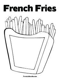 French Fries Coloring Page French Fries Coloring Pages High ...