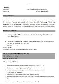 Resume Formats Experience Gentileforda Com