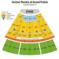 verizon theatre seating chart theatre