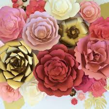 Paper Flower Wedding Backdrops Large Paper Flower Backdrop For Weddings Baby Showers Or