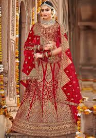 Bridal Lehenga Choli Designs With Price Red Silk Embroidered Bridal Lehenga Choli 160196 Bridal