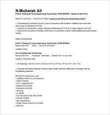 Hvac Resume Template Custom Hvac Technician Resume Examples] 48 Images Hvac Resume Sample