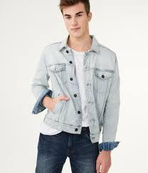 Light Gray Denim Jacket Bleach Wash Denim Jacket