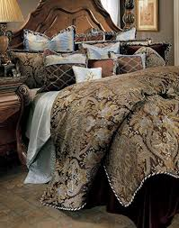 michael amini bedding. Brilliant Michael Michael Amini Portofino 12 Piece Comforter Queen Brown Throughout Bedding E