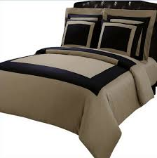 details about 5 piece full queen size hotel egyptian cotton framed duvet cover set taupe black