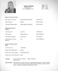 96 Child Actor Resume Actors Resume Template Free Acting