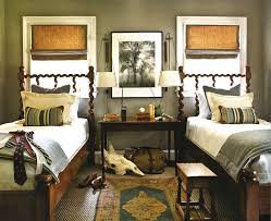 earth tone paint colors Bedroom Traditional with animal skull bag bedside.  Image by: Yvonne McFadden LLC