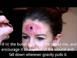 gunshot wound makeup tutorial