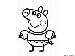 Pegga Pig Coloring Pages For Kids Printable With Peppa Pig Coloring