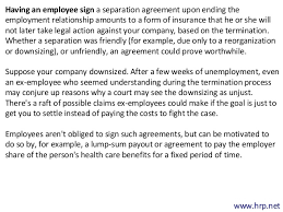 Employment Separation Agreements May Provide Peace Of Mind