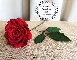 pdf pattern diy paper roses crepe paper roses paper flowers diy craft tutorial instructions paper rose wedding diy flower bouquet home decor