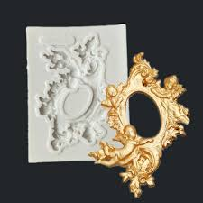 silicone 3d mold frames with angel babies