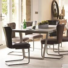 baker petra dining table 6 oscar silver dining chairs