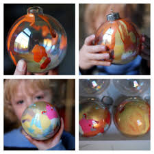 how to make swirled paint ornaments