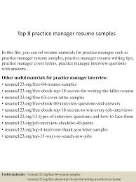 Practice Manager Resume Top224practicemanagerresumesamples224conversiongate224thumbnail24jpgcb=124302242240243 13
