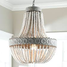 chandeliers shades of light neutral boho aged wood beaded chandelier diy turquoise beaded chandelier how