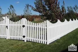 Scalloped vinyl picket fence Illusions Narrow Spacing Vinyl Scalloped Picket Fence With Dog Ear Vinyl Fence Canada Narrow Spacing Vinyl Scalloped Picket Fence With Dog Ear Direct