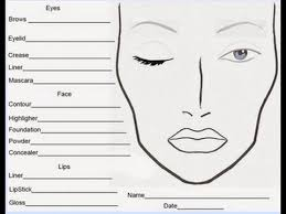 Free Printable Face Charts For Makeup Artists Free Printable Makeup Face Chart Saubhaya Makeup