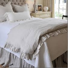 linen duvet cover queen. 2018 French Ruffled Linen Duvet Cover King Size Flax Bedding Queen Washed Bed D