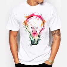 Tee Shirt Design Ideas Mens Cool Painted Bulb Design T Shirt Tee