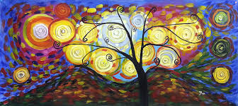 klimt tree of life large panorama large fine art oil on canvas painting superb quality and craftsmanship hand made wall art transcription of the