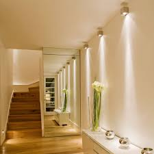 home interior lighting design ideas. decorationswanky modern hallway wall narrow lighting design ideas with white color interior feat mirror and beauty flower decorated combine home