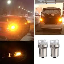 Led Car Signal Lights Details About Yellow Light 2pcs Dc 12v Ba15s 1156 9 Led Car Tail Turn Signal Brake Lamp Bulbs