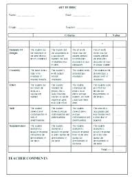 Scoring Rubric Template Presentation Rubric Template For Rubrics Grading Science
