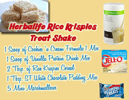 herbalife rice krispies treat shake modify and use 2 scoops of form 1 and pdm