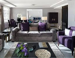 Purple Gray Black Living Room Fine Design Purple And Gray Living Room  Peachy Purple And Gray