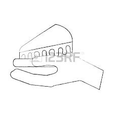 birthday cake slice drawing. Brilliant Drawing Hand Holding Birthday Cake Slice Food Vector Illustration Stock Vector   88550882 On Birthday Cake Slice Drawing G
