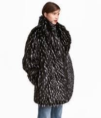 faux fur coat photo h m