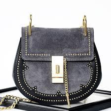 rosaire margot women s shoulder handbag genuine suede smooth calfskin leather blue 76110