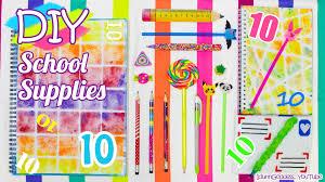 10 Diy School Supplies Easy Back To School Diy Projects Youtube