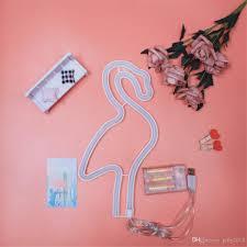 2019 Hot Hot Tube Neon Light 3d Sign Decor Led Night Lamp Flamingo