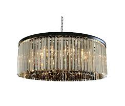 light round smoked glass crystal prism chandelier uk