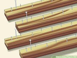 velcro wall hangers carpet beau 3 ways to hang a rug on a wall