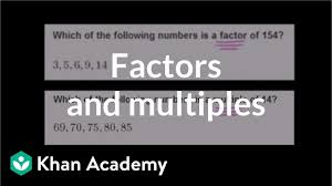 Greatest Common Factor Table Chart Finding Factors And Multiples Video Khan Academy
