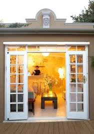 office french doors 5 exterior sliding garage. Garage Turned Into Cottage. Beadboard Ceiling, And The Roofline Is Just Slanted But Decorative Detailing Over French Doors Hides That. Office 5 Exterior Sliding O