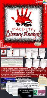 17 best ideas about macbeth analysis shakespeare shakespeare s macbeth literary analysis complete unit