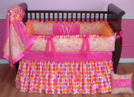 pink and orange baby bedding sets designs