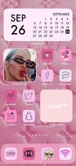 Boujee Pink Aesthetic iPhone iOS 14 App ...