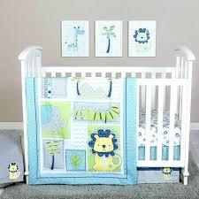 nojo baby bedding 4 piece crib bedding set jungle roar 4 piece crib bedding set baby