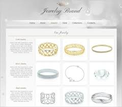 jewelry design web template in grey tones